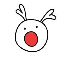 Rudolf Red nose Reindeer Photographic Print