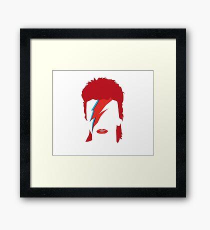 Bowie Faceless Framed Print