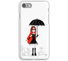 Gothic Wendy Corduroy with zombie hands iPhone Case/Skin