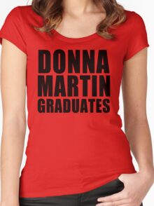 Donna Martin Graduates T-Shirt 90210 TV TEE Retro Funny hip Beverly Hills CA Women's Fitted Scoop T-Shirt