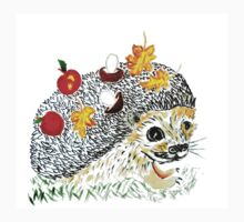 Cute Hedgehog Drawing Baby Tee