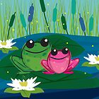 Two Peas on a Lily Pad by Laryssa Coogan