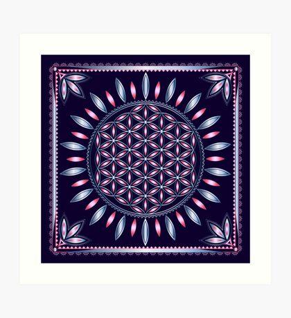 SACRED GEOMETRY - FLOWER OF LIFE - SPIRITUALITY - YOGA - MEDITATION Art Print