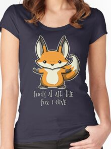 look at all the fox i give Women's Fitted Scoop T-Shirt