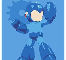 Mega Man Gears Up for Battle by ZaneBerry