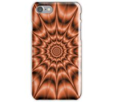 Spiked Exploding Rings in Orange iPhone Case/Skin