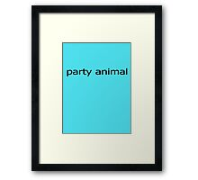 Party Animal Baby Jumpsuit Framed Print