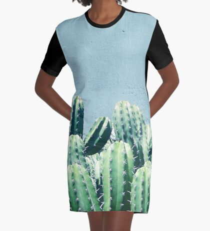 Cactus & Teal #redbubble #lifestyle Graphic T-Shirt Dress
