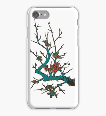 Sakura branch.Branch of a blossoming cherry iPhone Case/Skin