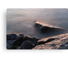 Rough and Soft - Rocks on the Beach at Sunrise Canvas Print