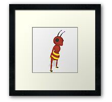 Cartoon Ant Low Poly Style Framed Print