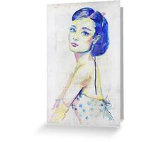 Pop Art Audrey Greeting Card