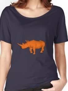Rhino Low Poly Women's Relaxed Fit T-Shirt