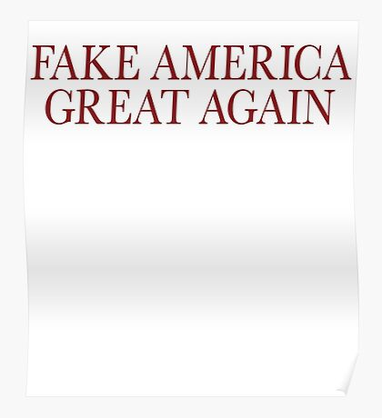 Fake America Great Again Poster