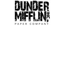 DUNDER MIFFLIN TSHIRT Funny Humor THE OFFICE TEE Paper COMPANY Dwight Humorous Photographic Print