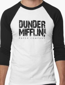 DUNDER MIFFLIN TSHIRT Funny Humor THE OFFICE TEE Paper COMPANY Dwight Humorous Men's Baseball ¾ T-Shirt