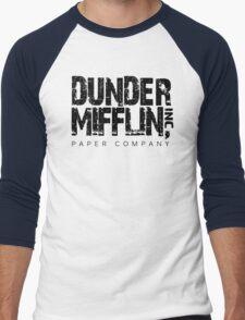DUNDER MIFFLIN TSHIRT Funny Humor THE OFFICE TEE Paper COMPANY Dwight Humorous Men's Baseball ¾ T-Shirt