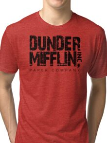 DUNDER MIFFLIN TSHIRT Funny Humor THE OFFICE TEE Paper COMPANY Dwight Humorous Tri-blend T-Shirt