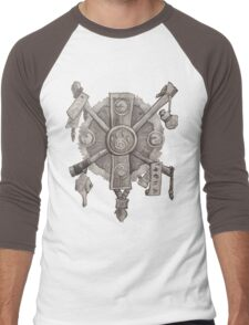 Monk crest Men's Baseball ¾ T-Shirt