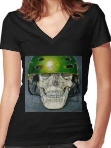 """""""Okay, NOW I'm Ready"""" Women's Fitted V-Neck T-Shirt"""