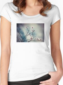 Spring apricot blossom Women's Fitted Scoop T-Shirt