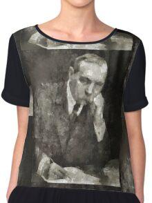 Sir Arthur Conan Doyle Author Chiffon Top