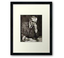 Sir Arthur Conan Doyle Author Framed Print