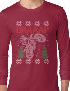Motocross Braaap Christmas Long Sleeve T-Shirt