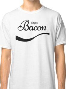 ENJOY BACON TSHIRT Funny Humor Pork TEE COKE FOOD Rude Offensive Meat Breakfast Classic T-Shirt