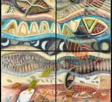 Tropical Fusions (Panels x 4) by Kerryn Madsen-Pietsch
