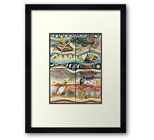 Tropical Fusions (Panels x 4) Framed Print