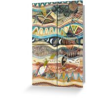 Tropical Fusions (Panels x 4) Greeting Card