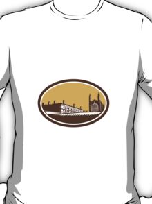 King's College University of Cambridge Woodcut T-Shirt
