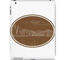 Tuscan Landscape Italy Woodcut iPad Case/Skin