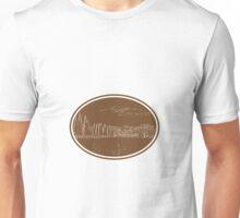 Tuscan Landscape Italy Woodcut Unisex T-Shirt