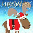 Funny Christmas Card - Merry Christmoose by Natalie Kinnear