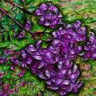 Stylized Lilacs by Monnie Ryan