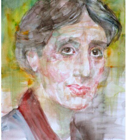 VIRGINIA WOOLF - watercolor portrait.7 Sticker