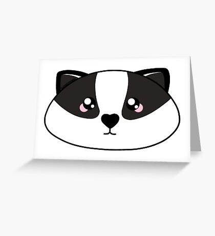Badger - Forest animal collection Greeting Card