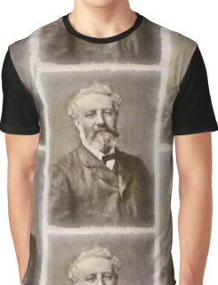 Jules Verne Author Graphic T-Shirt