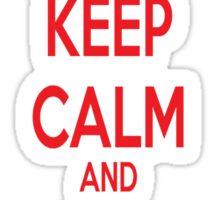 Keep Calm and ship Klaine Sticker