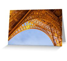 Golden Eiffel Tower Greeting Card