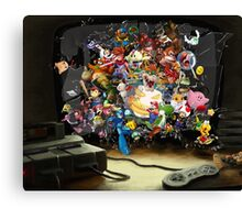 Super Nintendo Mashup! Canvas Print