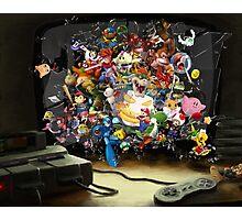 Super Nintendo Mashup! Photographic Print