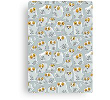 Snowy Owls pattern (Bubo scandiacus) Canvas Print