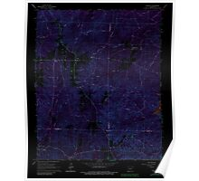 USGS TOPO Map Arkansas AR Willow 259881 1965 24000 Inverted Poster