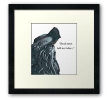 Davy Jones Pirates of the Caribbean Framed Print