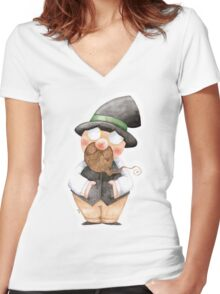 Mister Lonely Women's Fitted V-Neck T-Shirt