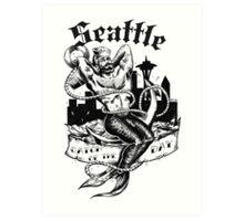 Seattle Merman  Art Print