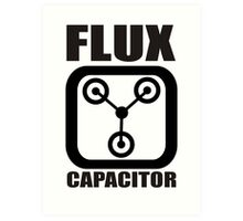 FLUX CAPACITOR TSHIRT Funny BACK TO THE FUTURE TEE Humor 80s DOC BROWN Marty VTG Art Print